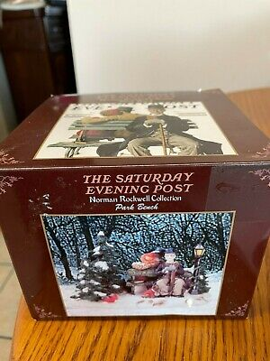 $ CDN6.38 • Buy  Rockwell Collection The Saturday Evening Post Figurine~ PARK BENCH