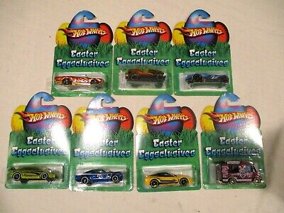 $26.99 • Buy LOT OF 7 2005 HOT WHEELS EASTER EGG-CLUSIVES GTO Jeep Shelby Focus Corvette