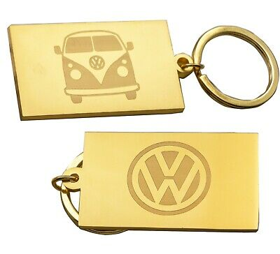 Misty  Silver VW Camper Van Keyring With Gift Tin  - Double Sided Engraved • 5.99£