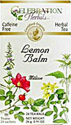 Lemon Balm Tea By Celebration Herbals, 24 Tea Bag 1 Pack • 8.06£