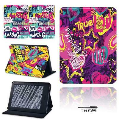 Graffiti - Leather Stand Cover Case For Amazon Kindle 8 /10th Paperwhite 1/2/3/4 • 6.99£
