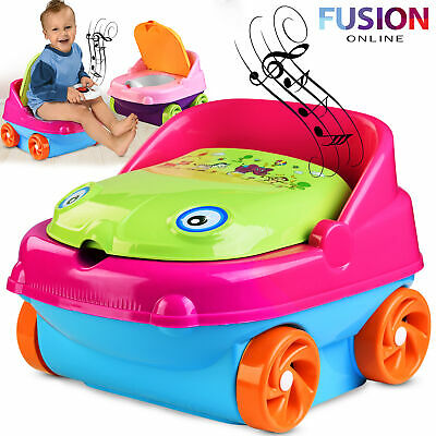£11.95 • Buy Kids Potty Training Chair Seat Toilet Trainer Toddler Baby Plastic With Music