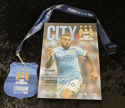 Manchester City Football Programmes 2015 V Newcastle United With A Badge • 5.99£