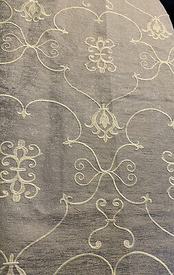 A Gorgeous Remnant Of Thick Embroidered Fabric With A Damask Pattern • 2£