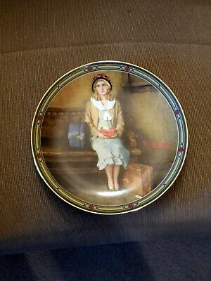$ CDN11.43 • Buy Edwin M Knowles China Co Norman Rockwell Collector Plate  A Young Girls Dream