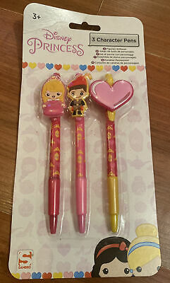 £3.20 • Buy Disney Princess Character Pens X 3 - Brand New In Sealed Packet