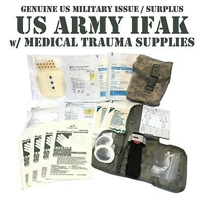 $74.95 • Buy Tactical Trauma Kit Stocked Ifak Acu Pouch Insert First Aid Kit Bcs Us Military