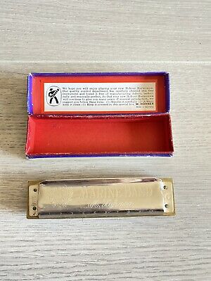 $45 • Buy Vintage M. Hohner Marine Band Harmonica Key Of C Germany No. 1896 A440 With Box