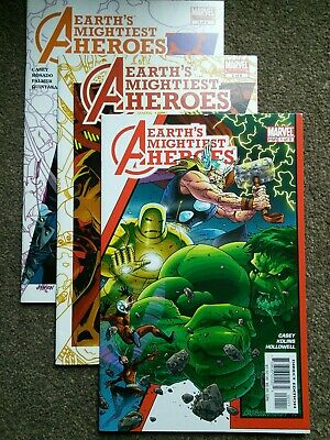 AVENGERS: EARTH'S MIGHTIEST HEROES #1,2,&4 (2005) Three Issue   Lot   VG+ • 2.99£