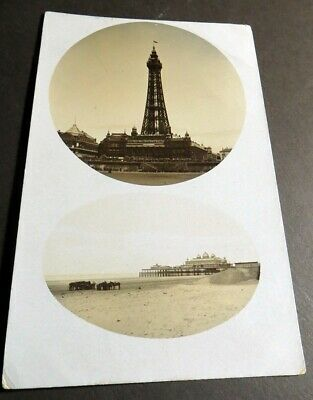 Blackpool C1905 Tower & Pier - Real Photo • 4£