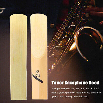 AU14.09 • Buy 10pcs Tenor Saxophone Reed Durable BB Hardness 1.5-4.0 Home Woodwind Instrument