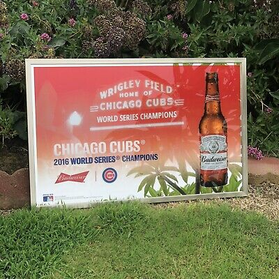 $ CDN157.86 • Buy Budweiser Chicago Cubs 2016 World Series Champs Beer Bar Man Cave Mirror Sign