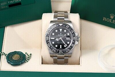 $ CDN22714.74 • Buy Rolex GMT-Master II Black Oyster 2020 New Card/Box/Papers 116710 116710LN