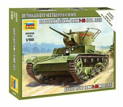 AU9.99 • Buy Zvezda 6246 1/100 T-26 Mod.1933 Plastic Model Kit