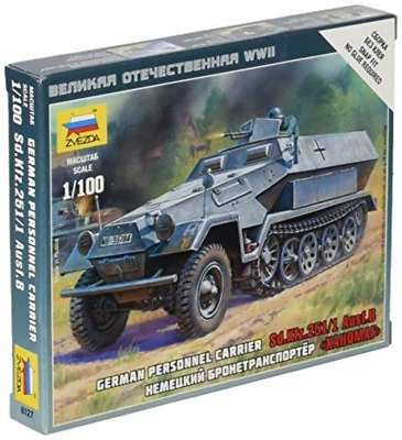 AU9.99 • Buy Zvezda 6127 1/100 Sd.Kfz.251/1 Ausf.B Plastic Model Kit