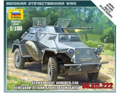 AU9.99 • Buy Zvezda 6157 1/100 Sd.Kfz.222 Armored Car Plastic Model Kit