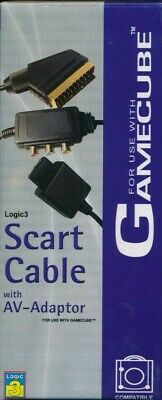 £2.99 • Buy Logic 3 - Branded Quality Scart Cable With AV Adapter For Gamecube - 2 Metre NEW