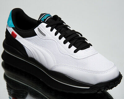 AU134.39 • Buy Puma Style Rider Cyborg Men's White Black Lifestyle Shoes Casual Sneakers