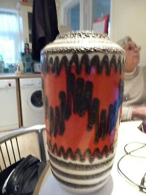 West German  Fta Lava  Floor Vase Large • 50£