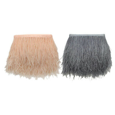 £9.06 • Buy 1Yard Ostrich Feather Fringe Trim For Dress Skirt Birthday Party Masquerade