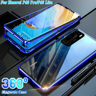 Case For Huawei P40 /Pro /Lite 360° Full Glass Clear Magnetic Metal Phone Cover • 4.99£