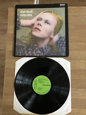 DAVID BOWIE - Hunky Dory 1980 U.K VERSION LP  WITH GREEN LABELS • 7.99£