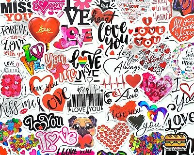 AU13.79 • Buy 50 Pcs  Valentines Day  Sticker Pack Naughty Gift For Him I Love You Heart Decal