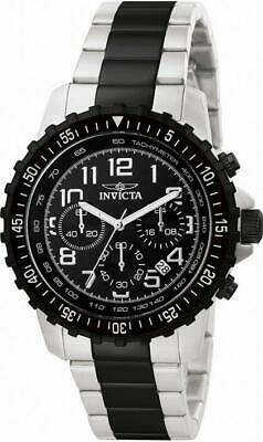 Invicta Specialty 1326 Men's Black Round Chronograph Date Stainless Steel Watch • 10.61£