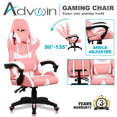 AU139.90 • Buy Executive Office Computer Gaming Chair Racer Recliner Chair Racing Seating Pink