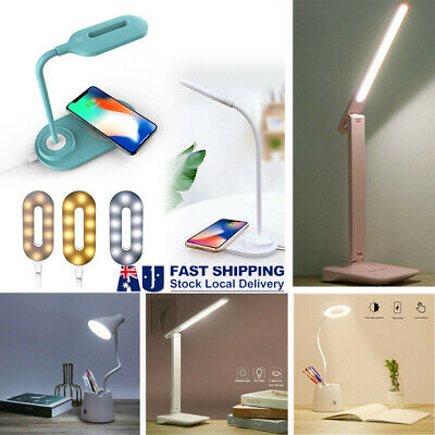 AU11.69 • Buy Touch LED Desk Lamp Bedside Study Reading Table Light USB Ports Dimmable