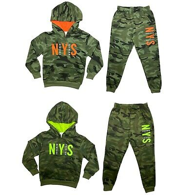 £12.99 • Buy Boys Kids Tracksuit Camouflage Hoodie Joggers Jogging Bottoms Camo Outfit Set