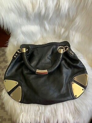 AU500 • Buy Gucci Black GG Leather SMALL Indy Hobo Bag