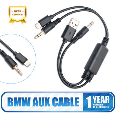 Y Cable For Bmw Mini USB AUX-In Interface Audio Adapter IPod IPhone 5 5s 6s Plus • 8.99£
