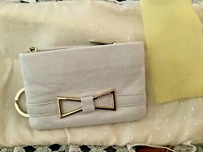 AU25 • Buy Oroton Card Coin Zippered Purse Key Chain Off White & Gold Unused11 X 7.5 Cms