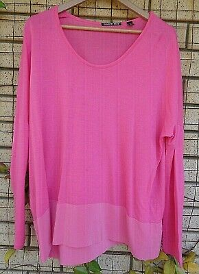 AU18.95 • Buy Country Road Pink Drop Shoulder Stretch Silk + Lyocell Top Size XL