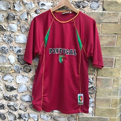 Mens Portugal Football Shirt Kit Size Medium 2004 Home Top Euros  • 10£