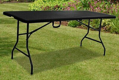 £46.90 • Buy 6ft Heavy Duty Folding Table Portable Rattan Camping Garden Party Catering New