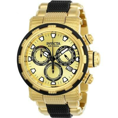 Invicta Specialty 23978 Men's Round Gold Tone Chronograph Day Date Analog Watch • 19.02£
