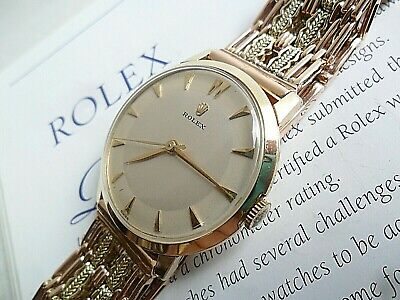 $ CDN2160.02 • Buy Solid 14k Gold 1960's Vintage Men's Rolex Ref. 41095 17J Swiss Watch W/ Bracelet