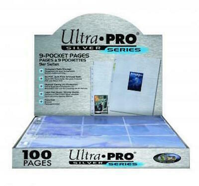 £5.93 • Buy Ultra Pro 9-pocket Trading Card A4 Sleeves Silver Series Pages 10 - 100 Pages