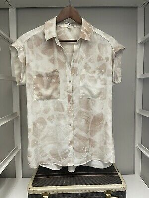 $ CDN18.93 • Buy Anthropologie Cloth And Stone Top XS Cap Sleeve Button Up EUC