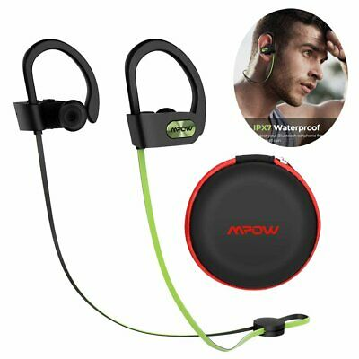 MPOW Flame Stereo Bluetooth Headphones IPX7 Noise Cancelling Sports Headset Mic • 20.69£
