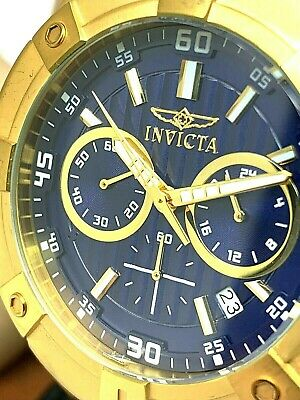 Invicta Men's Watch 21468 Specialty Chronograph Blue Dial Gold Stainless Steel • 43.44£