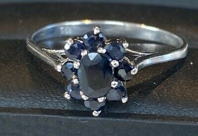 Beautiful Old Vintage Sterling Silver Real Genuine Sapphire Ring • 19.99£