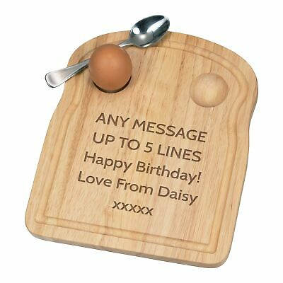 £14.99 • Buy Personalised Custom Any Message Text Name Breakfast Dippy Egg Cup Board Funny