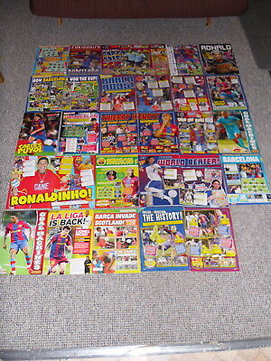 Barcelona Fc Football Posters Ex Match Motd Etc 2000's Lot 3 • 1.50£