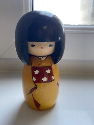 Japanese Kokeshi Wooden Doll Nodoka Peace And Tranquility 5.25 Inches High • 7.50£