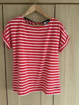 Weird Fish Red& White Striped Top Size 14 NWOT • 5£