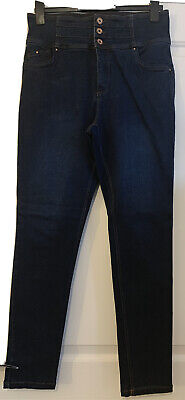 Simply Be Shape & Sculpt Dark Blue Skinny Jeans Extra High Waist 14R • 1.70£