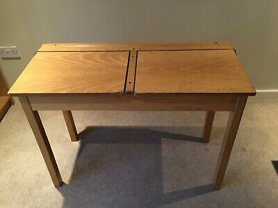 Vintage Double Old School Desk, Great For Home Schooling Or Working! • 15£